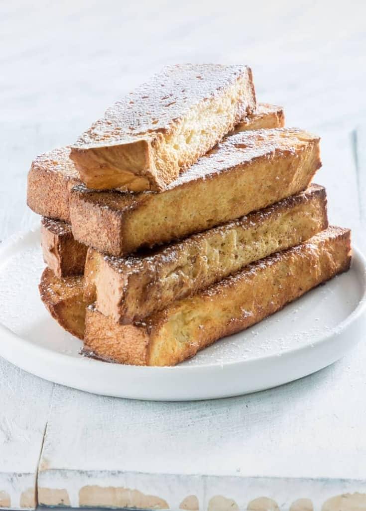Air Fryer French Toast Sticks + Oven Method {Vegetarian}