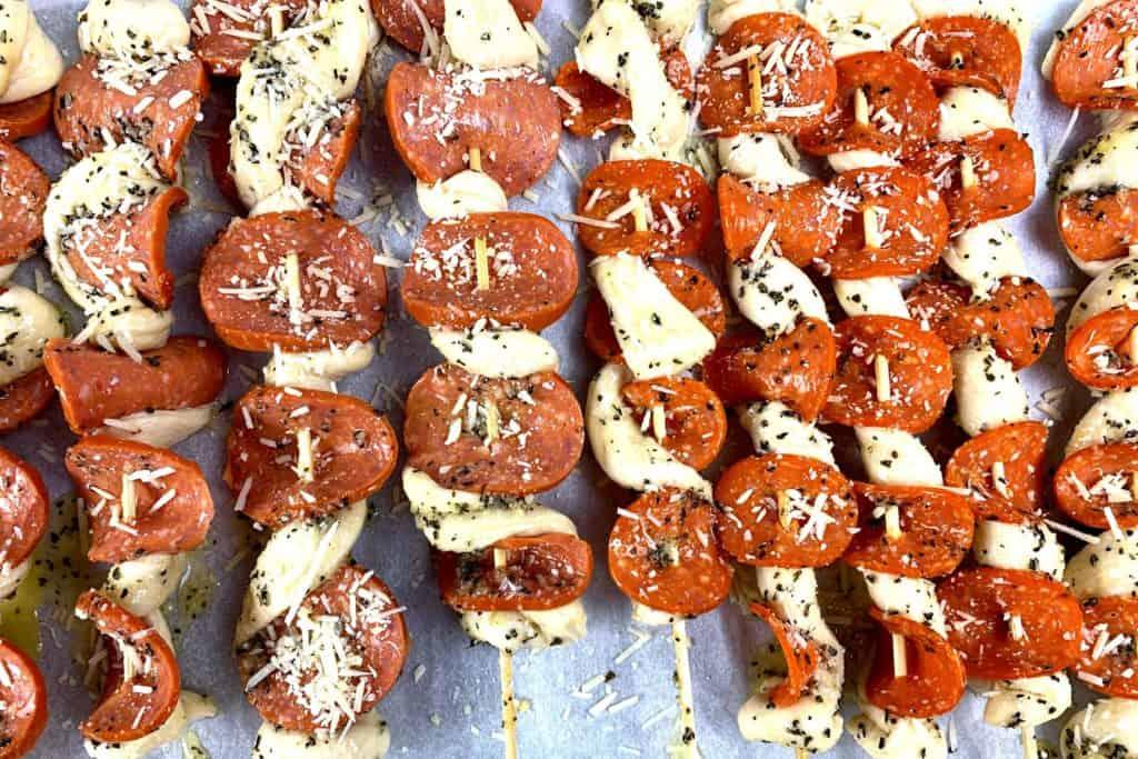 kebab pizza skewers
