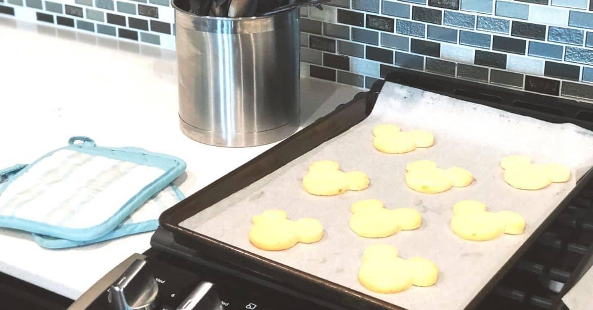 Mickey Lemon Shortbread Cookie Recipe