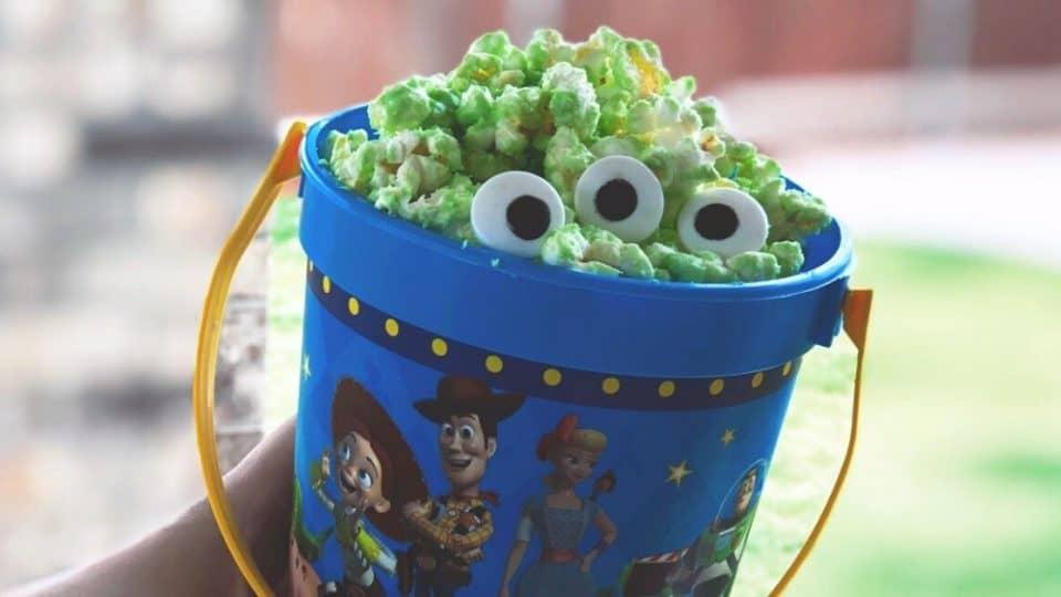 Toy Story Alien White Chocolate Popcorn