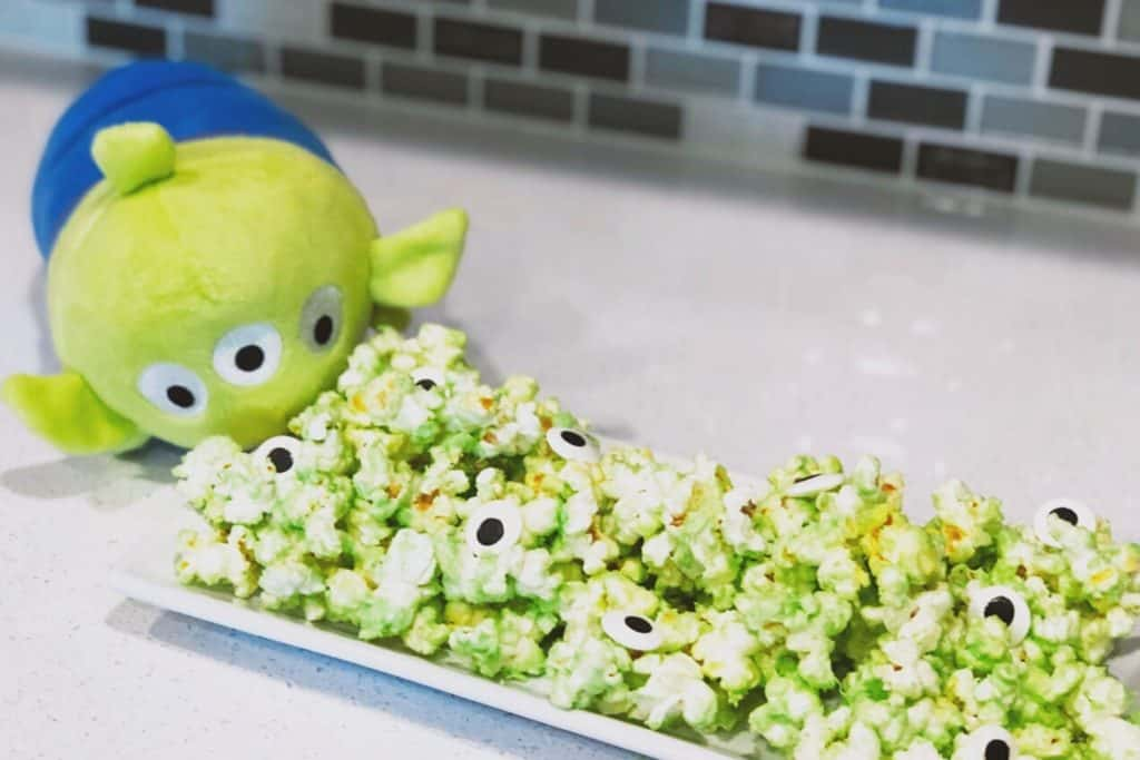 Toy Story Alien White Chocolate Popcorn by The Everyday Mouse Blog
