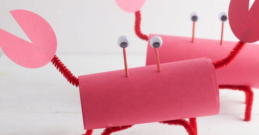 toilet paper roll crab craft