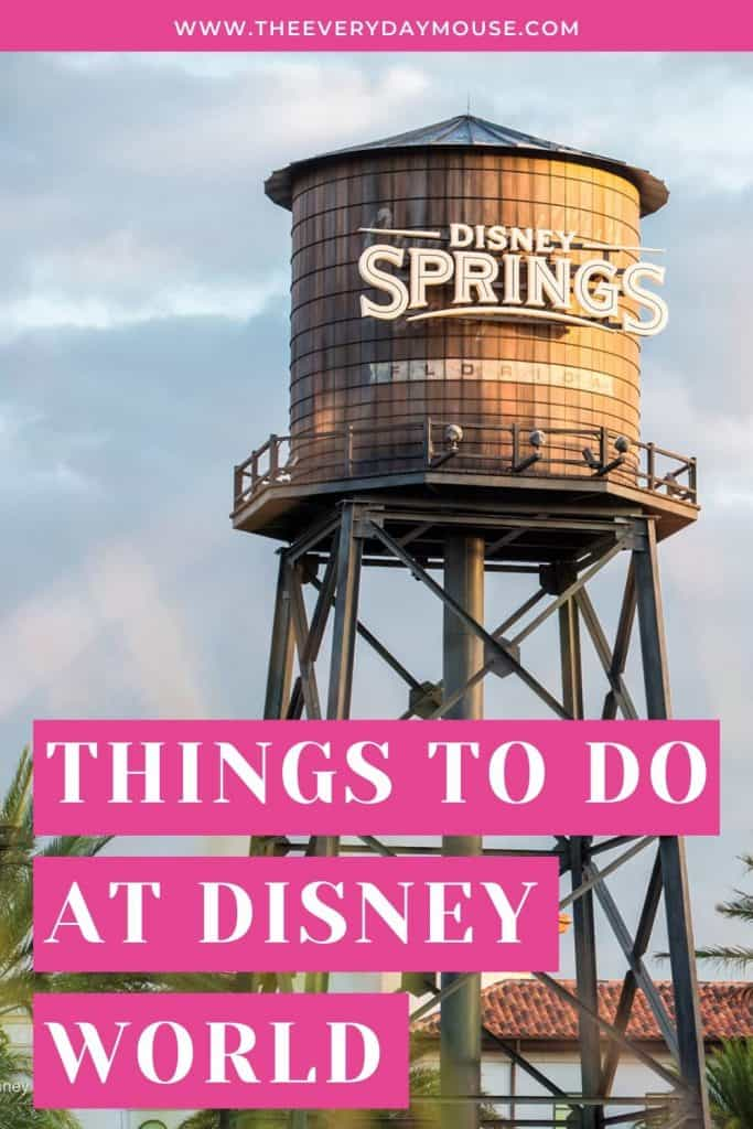 things to do disney
