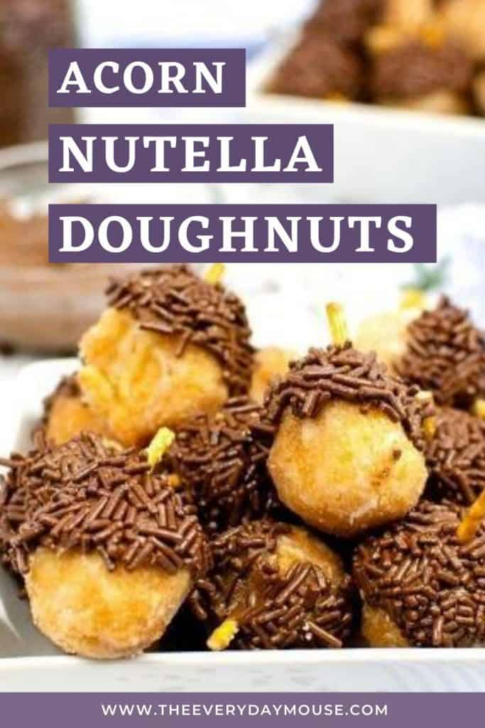 Acorn Donuts with Nutella