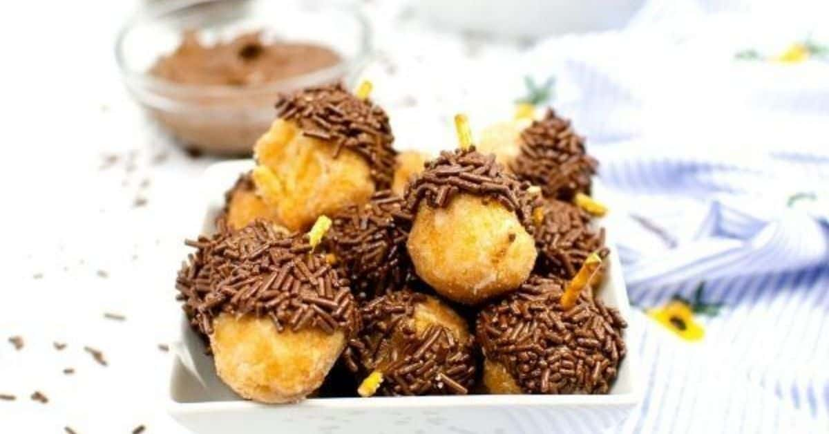 Chip & Dale's Acorn Donuts with Nutella