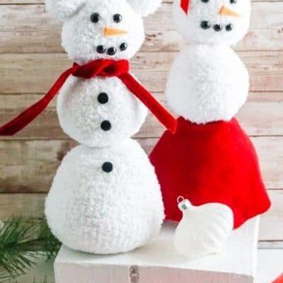 Minnie & Mickey Snowman Craft
