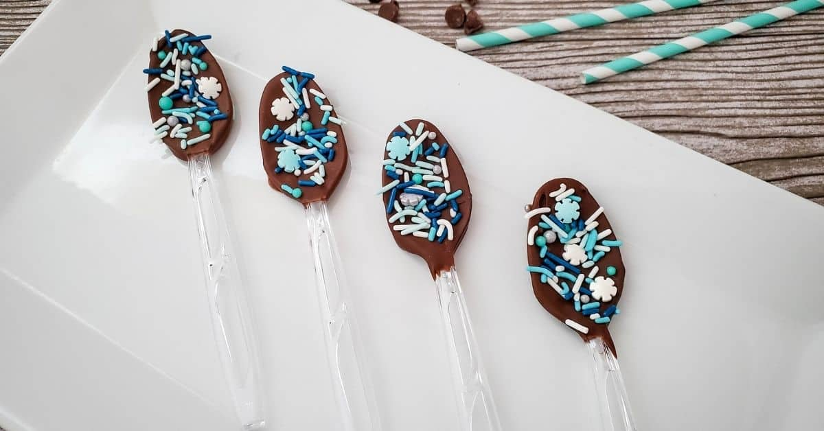 Frozen Snowflake Hot Chocolate Spoons